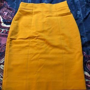 Mustard midi skirt